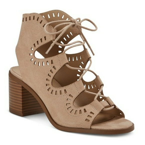7ca1efe5129 Mossimo Lace Up Gladiator Heel Sandals Maeve Blush. Boutique. Mossimo  Supply Co.